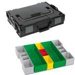 Sortimo Sortiments Kleinteile Koffer L-Boxx 102 schwarz mit Insetboxenset G3 + Deckelpolster