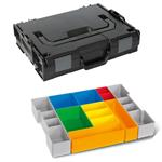 Sortimo Sortiments Kleinteile Koffer L-Boxx 102 schwarz mit Insetboxenset H3 + Deckelpolster