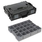 Sortimo Sortiments Kleinteile Koffer L-Boxx 102 schwarz mit Insetboxenset K3 + Deckelpolster