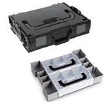Sortimo Sortiments Kleinteile Koffer L-Boxx 102 schwarz mit Insetset Mini L-Boxx + Deckelpolster