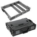 Sortimo Systemkoffer L-Boxx 102 schwarz inkl. 3 Fach Trennblechset + Deckelpolster