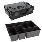 Sortimo Sortiments Kleinteile Koffer L-Boxx 136 schwarz mit 6 Fach Kleinteileinlage + Polster