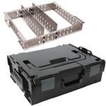 Sortimo Systemkoffer L-Boxx 136 schwarz inkl. 3 Fach Trennblechset + Deckelpolster