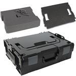 Sortimo Systemkoffer L-Boxx 136 schwarz inkl. Rasterschaumset und Deckelpolster