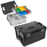Sortimo Systemkoffer L-Boxx 238 schwarz inkl. Trennblechset und Insetboxenset H3