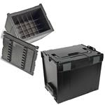Sortimo Systemkoffer L-Boxx 374 mit Isolier- / Thermoeinsatz schwarz
