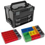 Sortimo Systemkoffer LS-Boxx 306 schwarz mit 2 x i-Boxx 72 , Insetboxenset A3 + H3