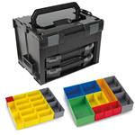 Sortimo Systemkoffer LS-Boxx 306 schwarz mit 2 x i-Boxx 72 , Insetboxenset B3 + H3