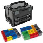 Sortimo Systemkoffer LS-Boxx 306 schwarz mit 2 x i-Boxx 72 , Insetboxenset C3 + H3