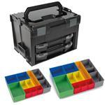 Sortimo Systemkoffer LS-Boxx 306 schwarz mit 2 x i-Boxx 72 , 2 x Insetboxenset H3