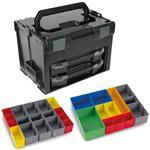 Sortimo Systemkoffer LS-Boxx 306 schwarz mit 2 x i-Boxx 72 , Insetboxenset I3 + H3