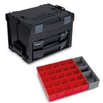 Sortimo Systemkoffer LS-Boxx 306 schwarz mit i-Boxx 72 + LS-Tray + Insetboxenset A3