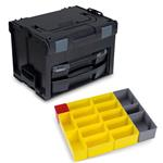 Sortimo Systemkoffer LS-Boxx 306 schwarz mit i-Boxx 72 + LS-Tray + Insetboxenset B3