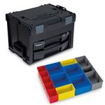 Sortimo Systemkoffer LS-Boxx 306 schwarz mit i-Boxx 72 + LS-Tray + Insetboxenset C3