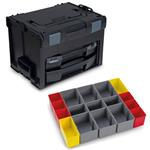 Sortimo Systemkoffer LS-Boxx 306 schwarz mit i-Boxx 72 + LS-Tray + Insetboxenset I3