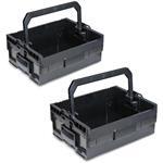 Sortimo Werkzeugkoffer Systemkoffer LT-Boxx 170 2er Set schwarz passend zu Bosch