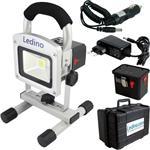 Ledino LED-Akkustrahler Set 10 W 2x LI Akku Koffer