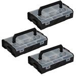 Sortimo L-BOXX Mini schwarz / Deckel transparent Industrial Line 3er Set