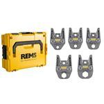 REMS Presszangen M - Set M15-M18-M22-M28-M35  inkl. L-Boxx