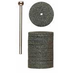 Proxxon 28304 Silizium-Karbid-Schleifscheiben, 22 mm, 10 Stück mit Träger