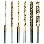 Proxxon 28876 HSS Spiralbohrersatz mit Zentrierspitze, 6 tlg. (1,5 bis 4 mm)