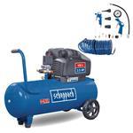 Scheppach Doppelzylinder Druckluft Kompressor HC105DC 100L Ölfrei 10 Bar 2,5 PS