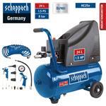 Scheppach Kompressor HC25o, ölfrei, 8bar, 24l, Set