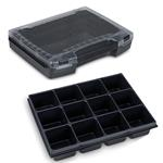 Sortimo Sortiments Kleinteile Koffer i-Boxx 72 schwarz mit 12 Fach Kleinteileinlage