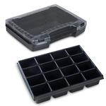 Sortimo Sortiments Kleinteile Koffer i-Boxx 72 schwarz mit 16 Fach Kleinteileinlage