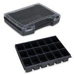 Sortimo Sortiments Kleinteile Koffer i-Boxx 72 schwarz mit 18 Fach Kleinteileinlage