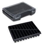 Sortimo Sortiments Kleinteile Koffer i-Boxx 72 schwarz mit 20 Fach Kleinteileinlage