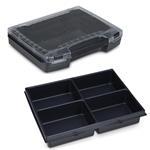 Sortimo Sortiments Kleinteile Koffer i-Boxx 72 schwarz mit 4 Fach Kleinteileinlage