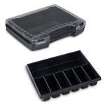 Sortimo Sortiments Kleinteile Koffer i-Boxx 72 schwarz mit 7 Fach Kleinteileinlage