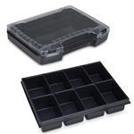 Sortimo Sortiments Kleinteile Koffer i-Boxx 72 schwarz mit 8 Fach Kleinteileinlage