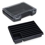 Sortimo Sortiments Kleinteile Koffer i-Boxx 72 schwarz mit 9 Fach Kleinteileinlage