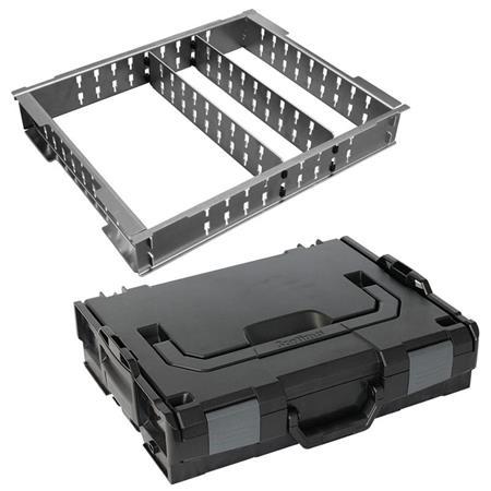 3 Fach Trennblechset+Deckelpolster Sortimo Systemkoffer L-Boxx 136 schwarz inkl