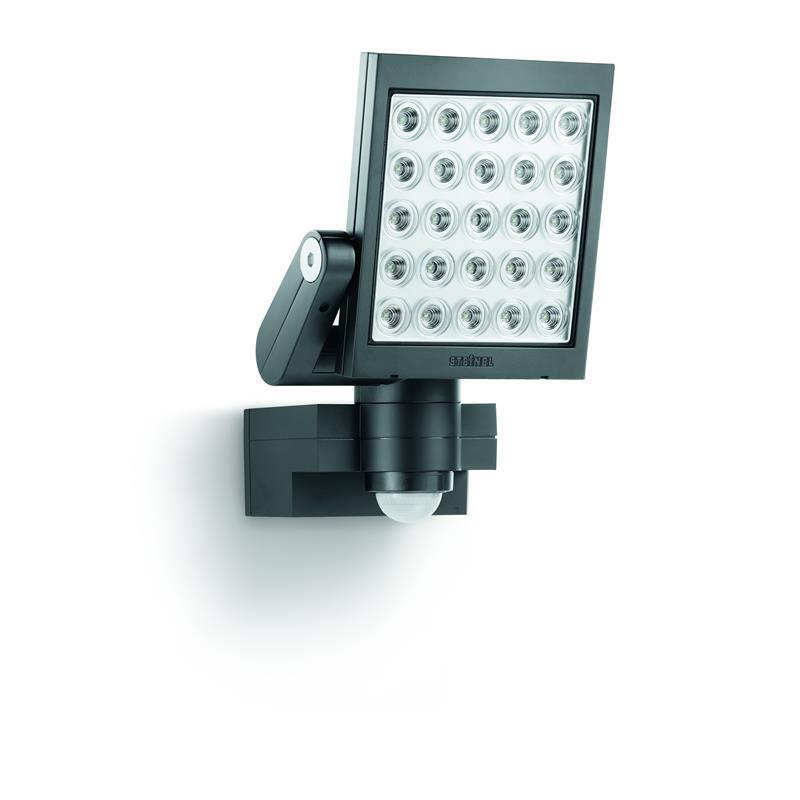 steinel led strahler xled 25 schwarz e3 mit passiv infrarot sensor inkl 25 leds ebay. Black Bedroom Furniture Sets. Home Design Ideas