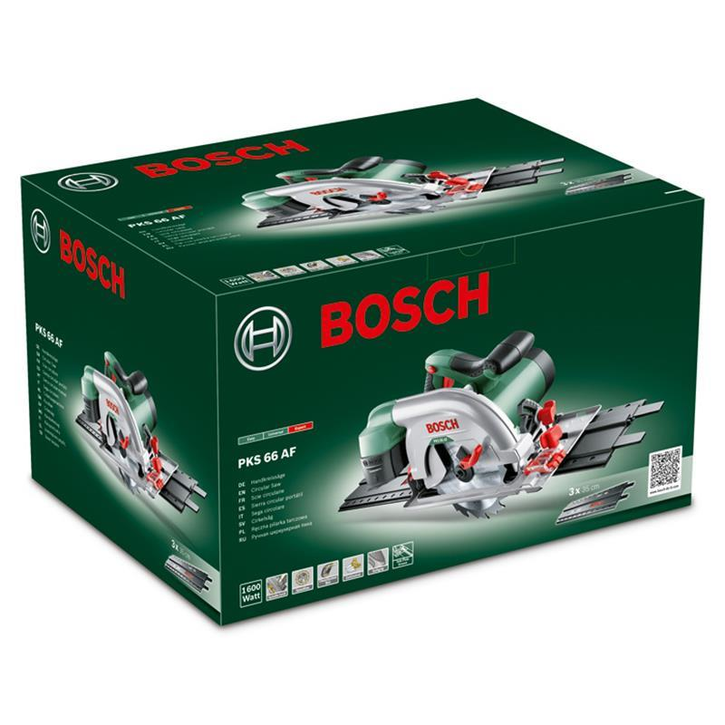 bosch handkreiss ge pks 66 af inkl f hrungsschiene 190 mm 1600 watt ebay. Black Bedroom Furniture Sets. Home Design Ideas