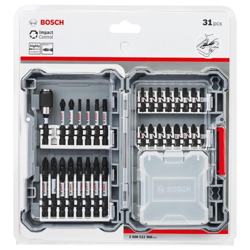 bosch impact control schrauberbit set bitsatz bitset 31 tlg 2608522366 ebay. Black Bedroom Furniture Sets. Home Design Ideas