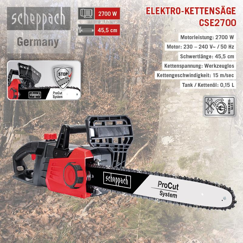 Kettenspanner für Scheppach Fuxtec McDillen Rotfuchs Güde 45-58 ccm Kettensäge
