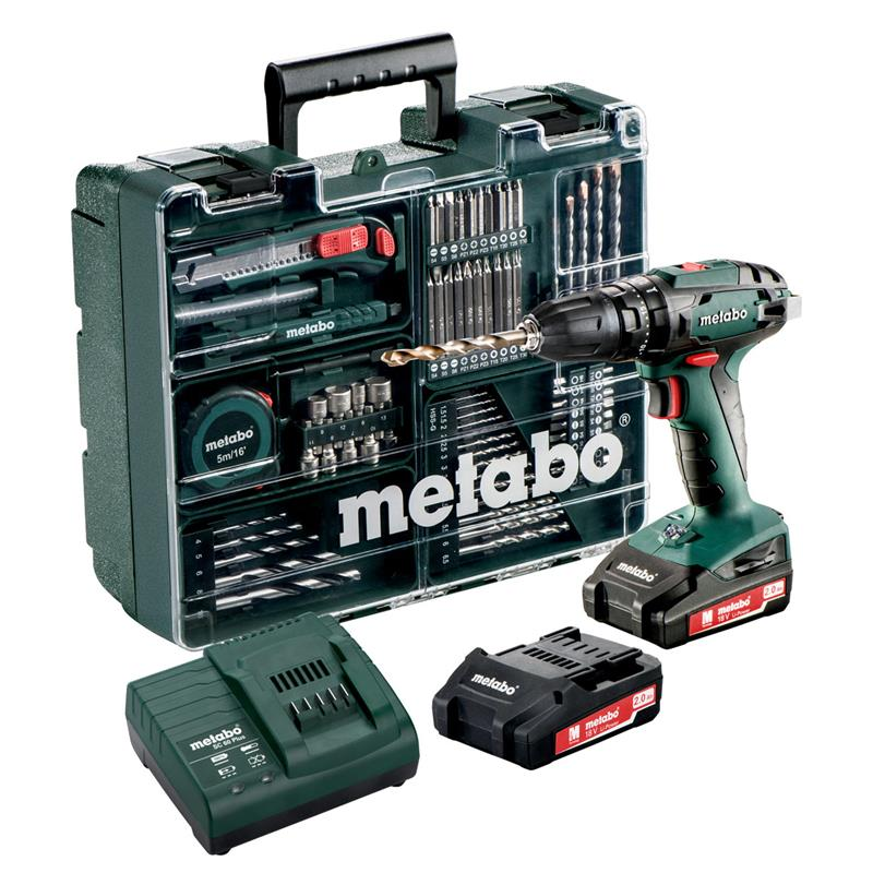 metabo 18 v akku schlagbohrschrauber sb 18 set. Black Bedroom Furniture Sets. Home Design Ideas