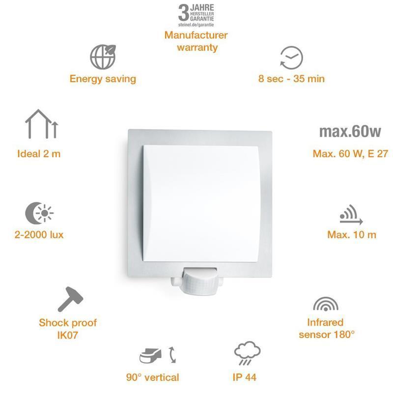Steinel Außenleuchte L 20 S Außenlampe Bewegungsmelder Bewegungsmelder Bewegungsmelder Sensor Lampe 35b270