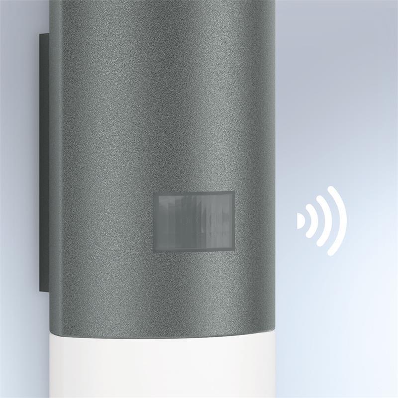 steinel led au enleuchte l 910 anthrazit au enlampe bewegungsmelder sensor lampe ebay. Black Bedroom Furniture Sets. Home Design Ideas