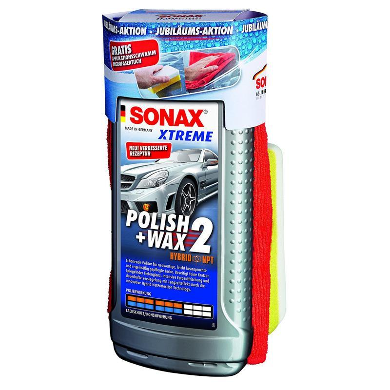 sonax xtreme polish wax 2 500ml 65 jahre inkl gratis. Black Bedroom Furniture Sets. Home Design Ideas
