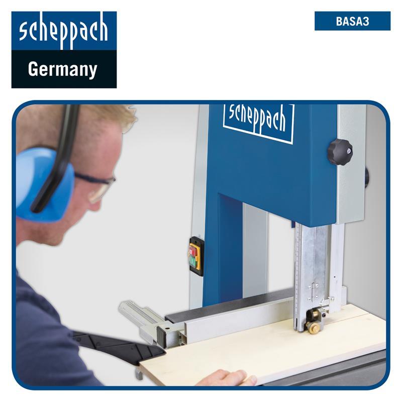 Scheppach Bandsäge BASA3 Professional 230 V mit Querschneidlehre und Fahrwerk
