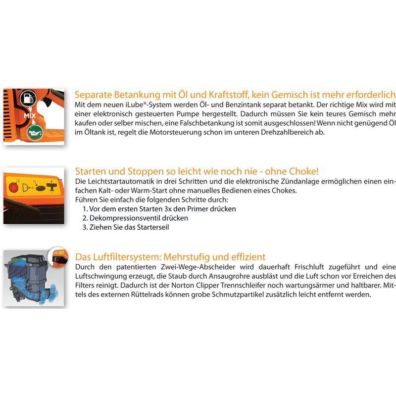 Clipper Trennschleifer Speedy CP 514-350I Set 2 Lefeld Werkzeug