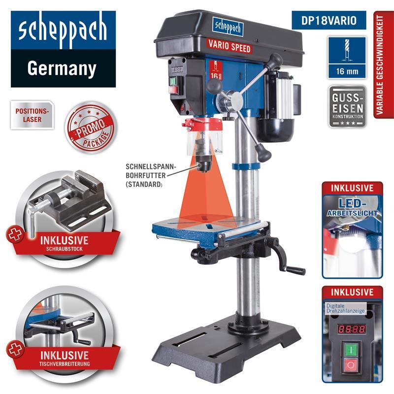 550W 16mm Tischbohrmaschine Standbohrmaschine Säulenbohrmaschine mit Laser NEU~