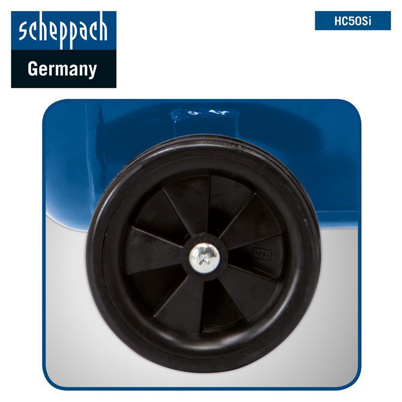 Scheppach HC50Si Leise-Kompressor 8 bar Doppelzylinder 50L Silent