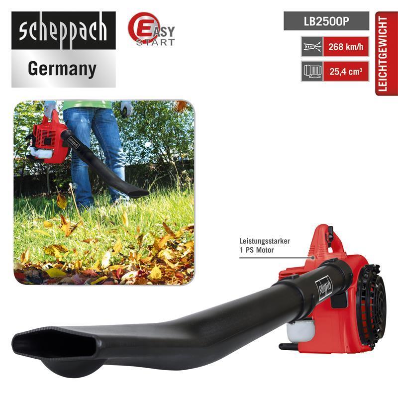 Scheppach LB2500P Benzin Laubbläser 1 PS 2-Takt ***NEU***