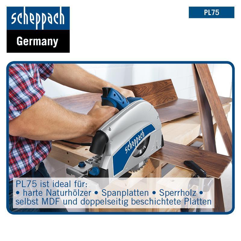 Scheppach Sägeblatt 210x30mm 36Z für Tauchsäge PL75